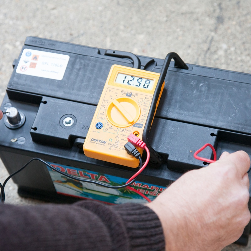 Checking Leisure battery voltage